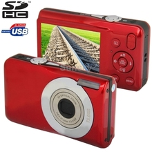 DC-650 Red, 15.0 Mega Pixels 5X Optical Zoom Digital Camera with 2.7 inch TFT LCD Screen, Support SD Card Free Shipping