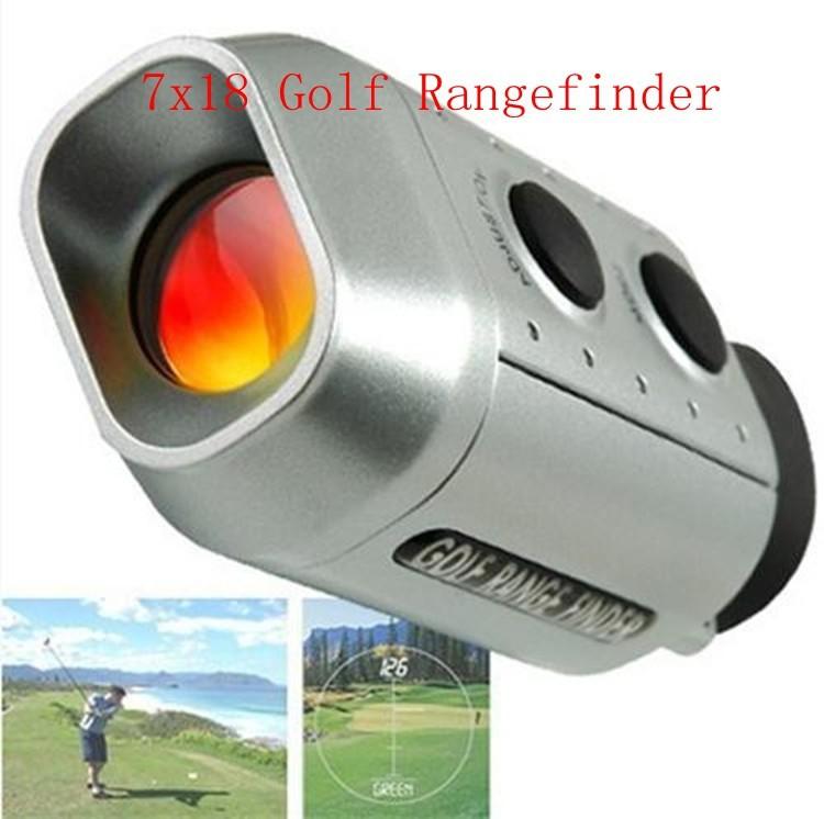 Digital 7x Golf Scope With Padded Case 7x18 Golf Rangefinder Telemeter Monocular Optic Telescope Portable Laser Distance Meter(China (Mainland))