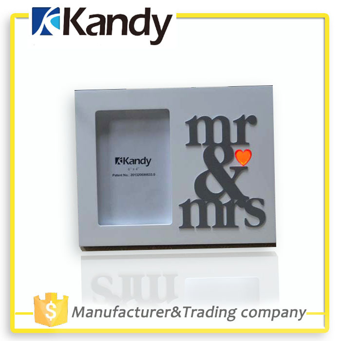 Kandy Unik put your picture in a modern indoor landscape mr&mrs wedding vertical photo frame retail free shipping KD94061(China (Mainland))