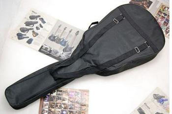 "600D Oxford Cloth No Padded 41""40"" Acoustic Guitar Bag Soft Case Double Strap Backpack pocket"