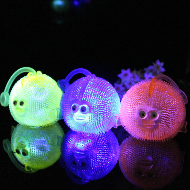 Cute Squidgy Stress Balls Big Fish Squeeze Stretch Throw Light up Home Office Kids Toy Gift(China (Mainland))