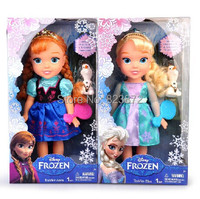New Original Toddler Elsa and Anna Doll Olaf Set 34cm Boneca Elsa Princess Dolls for Girls Gifts Free Shipping