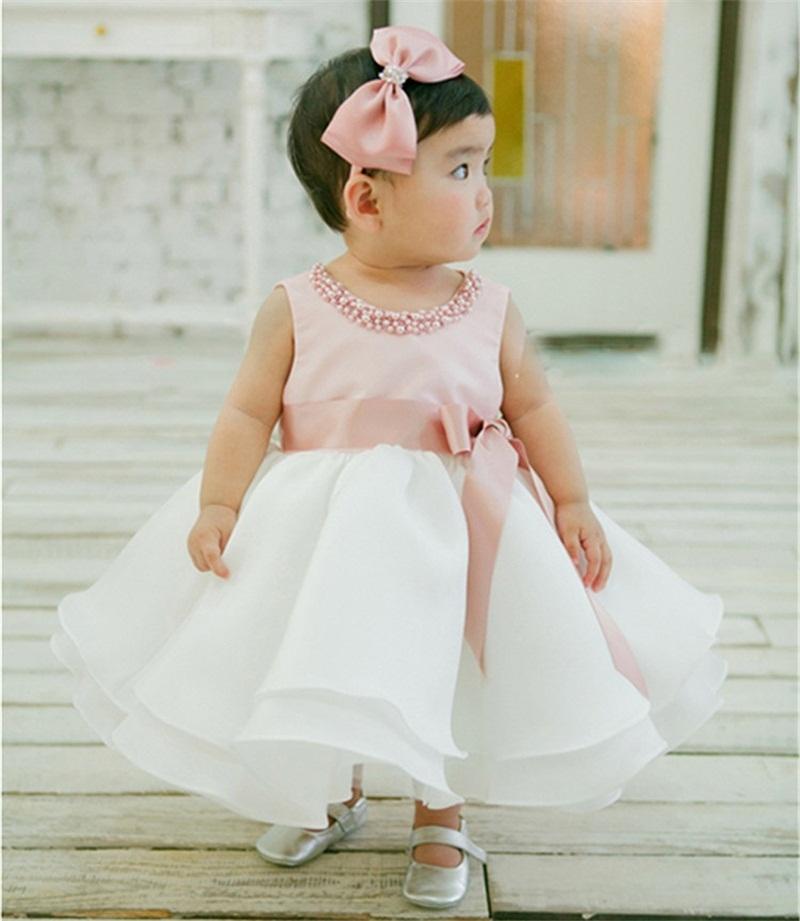 ���� new infant baby girl wedding dress baptism