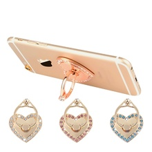 Chic Universal Heart Shape Finger Ring Stand Bracket Buckle Mobile Phone Holder(China (Mainland))