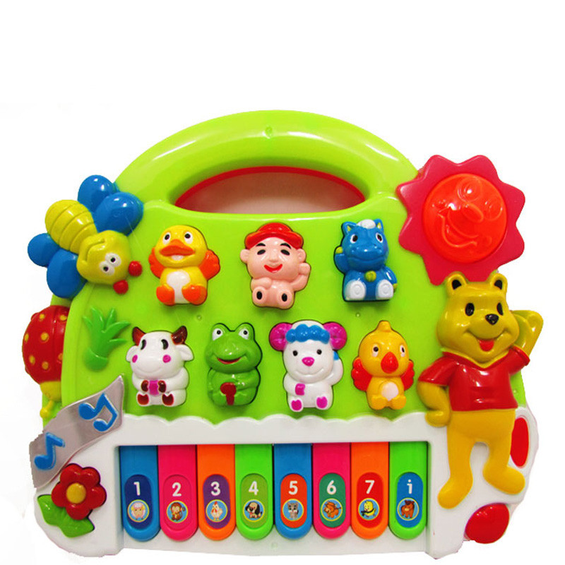 Cheap Educational Toys : Free shipping cheap music educational toy with light