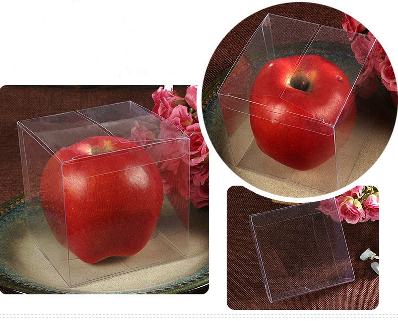1000pcs 9*9*9cm Transparent waterproof PVC boxes Packaging small plastic Clear box storage for food/jewelry/Candy/Gift/cosmetics(China (Mainland))