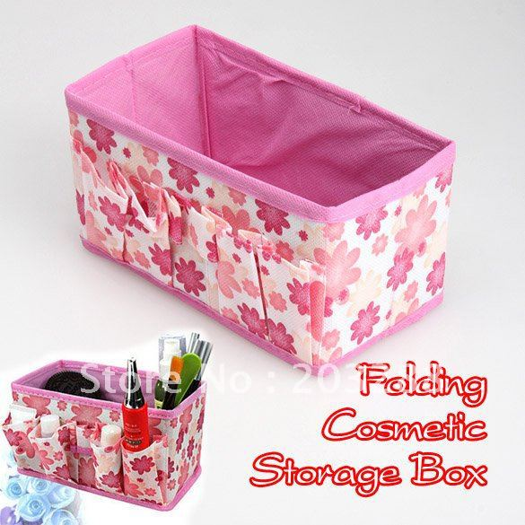Fashion Make Up Cosmetic Storage Box Container Bag Case Stuff Organizer Colors Free Shipping New Arrival