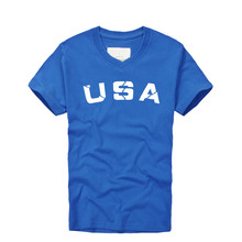 Buy 2016 Summer Mens Letter Print Cotton T-shirts USA Pattern Short Sleeve v-neck Tshirts Men's Plus Size 3XL Loose T Shirt Tops for $13.78 in AliExpress store