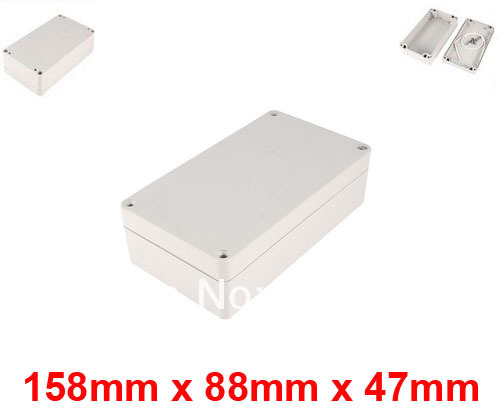 158mm x 88mm x 47mm Waterproof Plastic Case DIY Junction Box Joint Hinged Lid(China (Mainland))