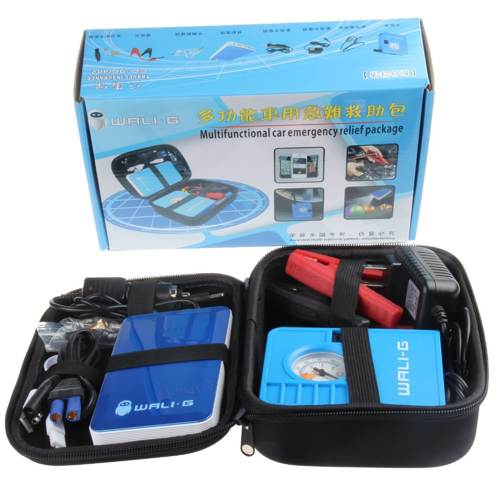 Free Shipping 2015 NEW Multifunctional Car emergency relief pcakage Mobile Power&Inflator to Car emergency start Tire Inflation(China (Mainland))