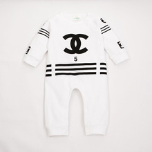 2016 new Spring fashion  Newborn Baby Girls Boys 100% Cotton Rompers infant Body Suit letter Long Sleeve Clothes bebe de roupas(China (Mainland))