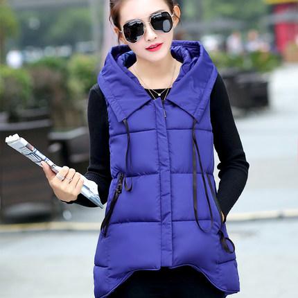 Women Vest 2015 Fashion Winter Gilet Jackets Female Casual Fur Coats Hooded Warm Waistcoat Femme Long Woman Y79D