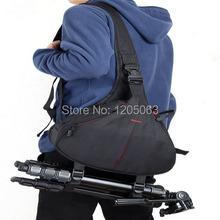 DSLR SLR Digital Sling Camera Case Shoulder Bag Backpack For Nikon Canon Sony Free Shipping(China (Mainland))