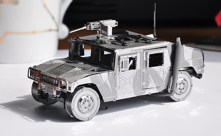 Piececool Metal Scale Models 3D Puzzle Educational Toys Military Hummer Armoured Car Business Gifts Home Decoration - GoodBuy store
