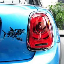 Vinyl Black Cool Car-Styling Cartoon Fish Bones Skeleton Body Wall Decals for Car Sticker Reflective Stickers On Cars Motorcycle(China (Mainland))