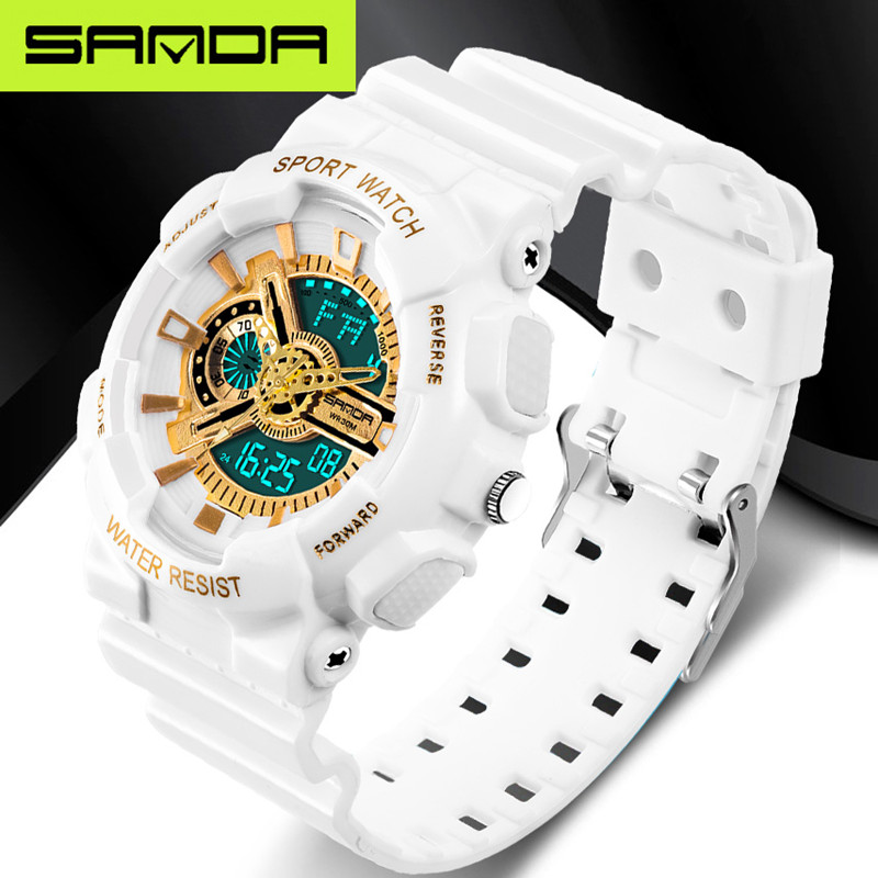 2017 new brand SANDA fashion watches men's LED digital watches G watches waterproof sports military watches relojes hombre(China (Mainland))