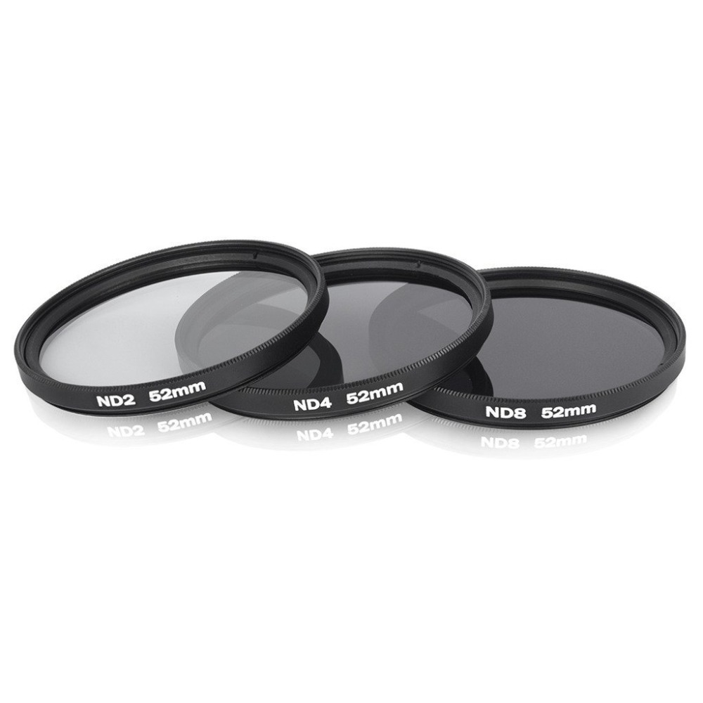 52mm Professional Photography Nd Neutral Density Lens Filter Kit (Neutral Density Nd2, Nd4, Nd8) with 52mm Filter Thread(China (Mainland))