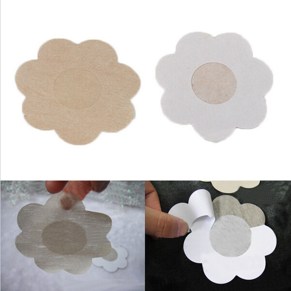 1lot =10pcs Flower Adhesive Nipple Covers Pads Body Breasts Stickers Disposable Milk Paste Anti Emptied The Chest Paste Bra(China (Mainland))