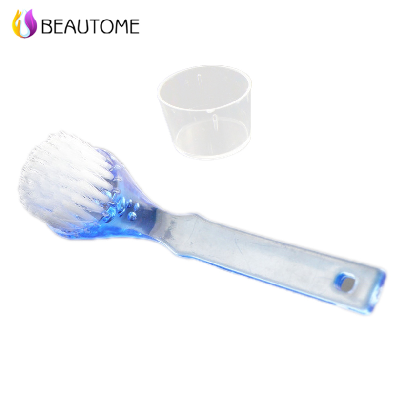 1pcs Nail Art Dust Cleaning Brush Plastic Round Durable Nail Brush With Cover Make Up Brush Manicure Nail Tools(China (Mainland))