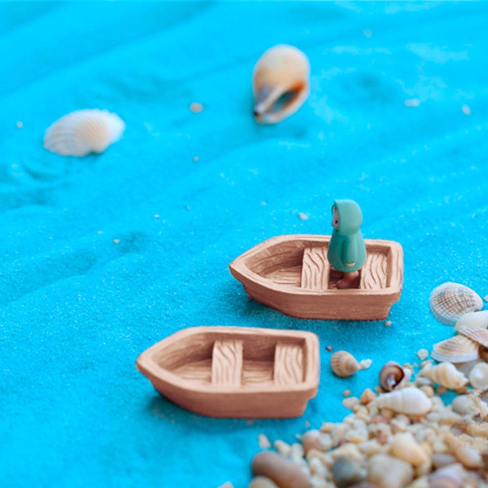 gnomos de jardim venda : gnomos de jardim venda:de barco de madeira Brinquedos Figura micro Decoração de jardim