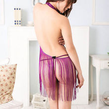 New Sexy Purple Babydoll Lingerie Nightgown Sleepwear Nightie Lace Chemise(China (Mainland))