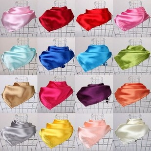 2015 new Fashion gorgeous Emulation silk soft Satin Square Silk Scarf 60 cm square Pure color silk scarves SNY07147(China (Mainland))