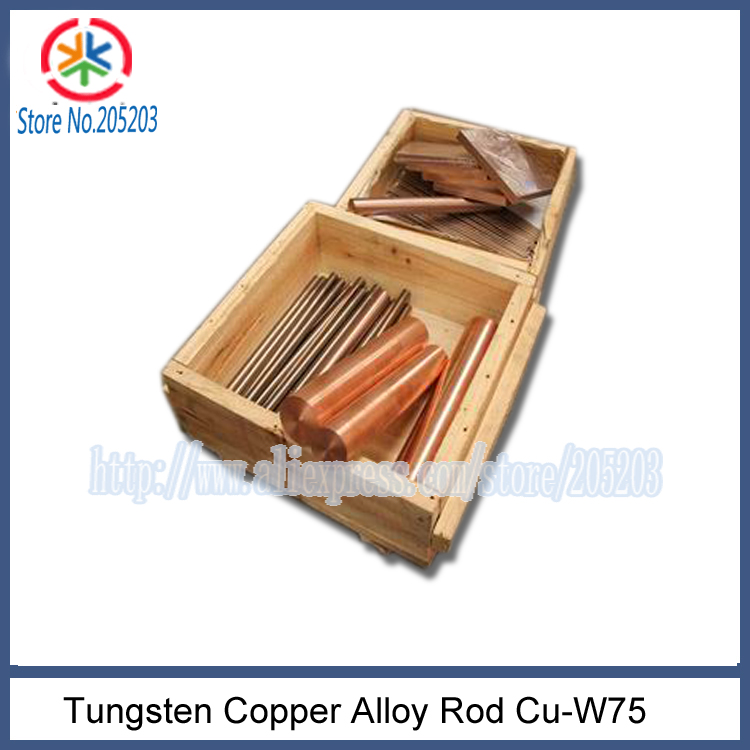 5pcs x12.0x200mm W75Cu25 tungsten copper rod alloy for resistance welding electrode(China (Mainland))