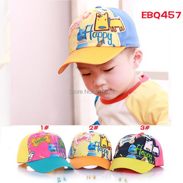 Дети бейсболки младенцы имеет и шапки комикс собака надписи Sunbonnet кепка мальчики-младенцы девочки вс шапки для 1-4Y