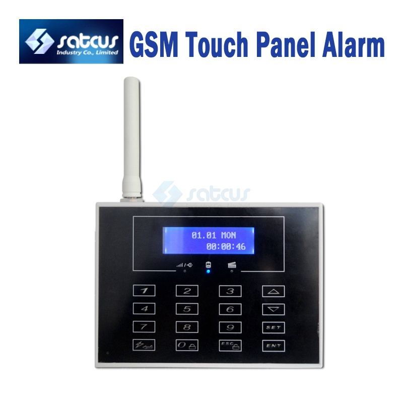 GSM Security Alarm Systems + Touch Panel + LCD Display + Quad Band + Wireless Flashing Siren<br><br>Aliexpress