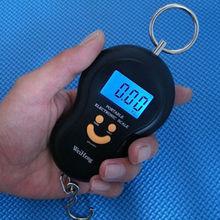 Digital portátil electrónico LCD de equipaje Fish luz de fondo peso de la escala gancho 45 KG / 5 g