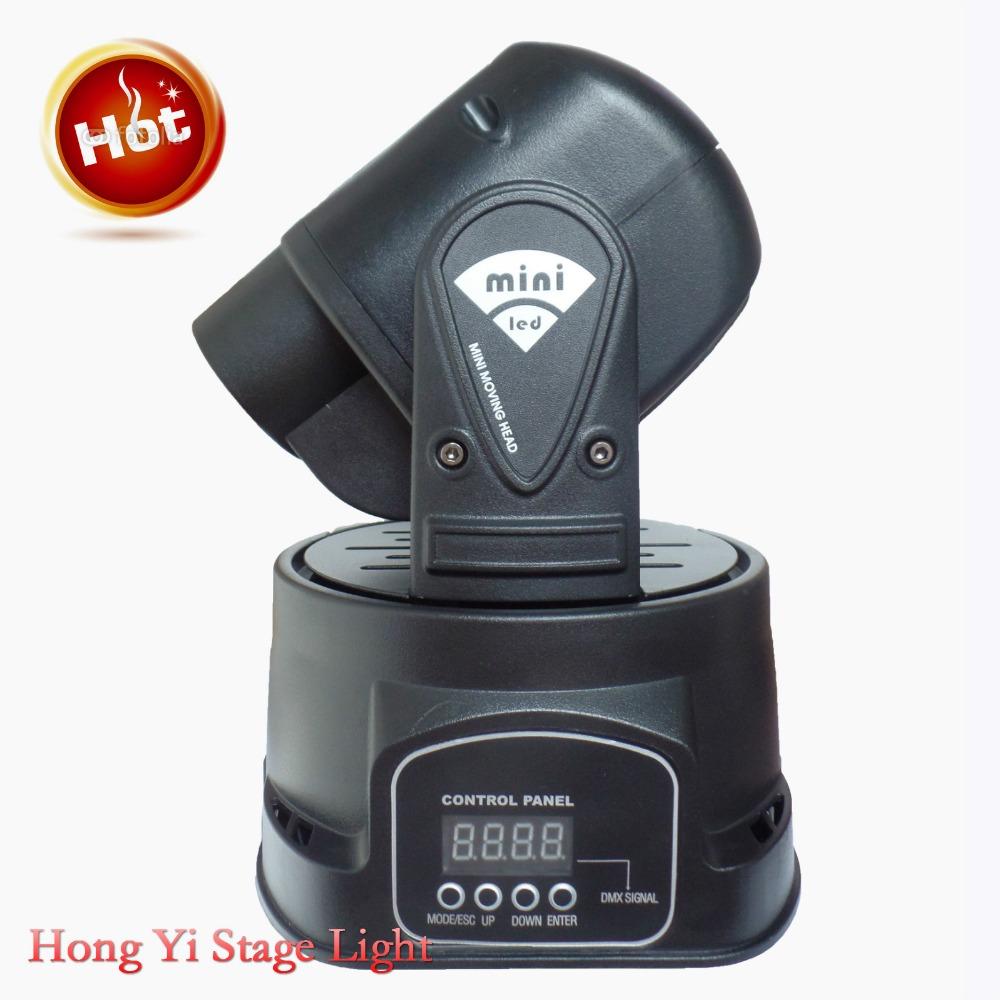 2016 Hot fast shipping 2PCS/Lot LED RGB 15W DJ Mini LED Spot/Gobos Moving Head Stage Light DMX 5/13 Channels(China (Mainland))