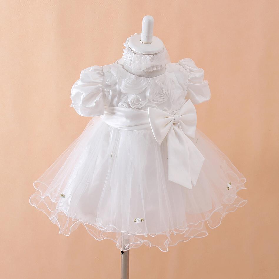 New 2015 Summer Christening Gown Baby Dresses Baby baby Christening Gown Dresses Newborn Baby Christening Dress Freeshipping(China (Mainland))