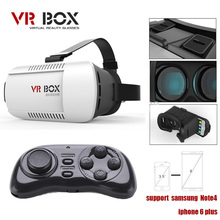 2015 Google cardboard VR BOX Version VR Virtual Reality Glasses + mini Smart  Bluetooth Wireless Mouse / Remote Control Gamepad