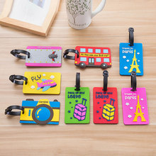 Plastic Luggage tag cartoon Travel Luggage Suitcase Baggage Travel bag Boarding tag Lovely Address Label Name ID Tags(China (Mainland))