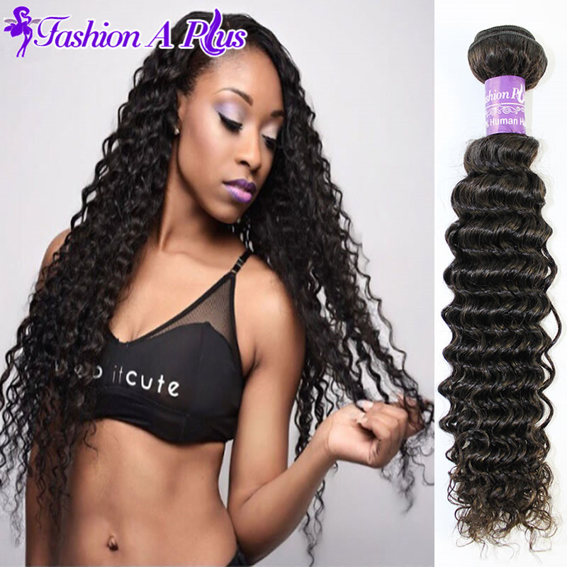 Malaysian Curly Hair 4pcs Deep Wave Malaysian Virgin Hair Weave Bundles Vip Beauty Virgin Malaysian Hair Curly Weave Human Hair(China (Mainland))