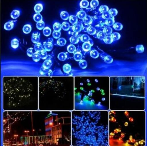12m 100leds solar led string lights Fairy Lights Outdoor Courtyard Lights for garden decoration blue green yellow white(China (Mainland))