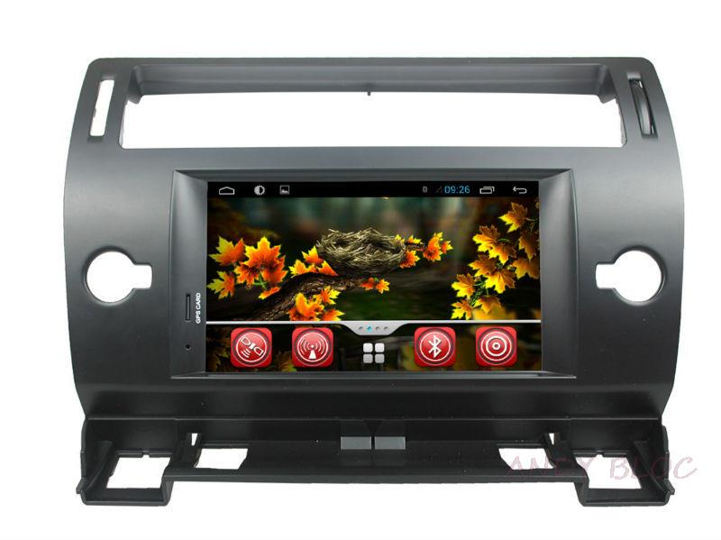 Car Stereo for Pure android 4 2 2 Citroen C4 black with GPS Bluetooth Radio TV