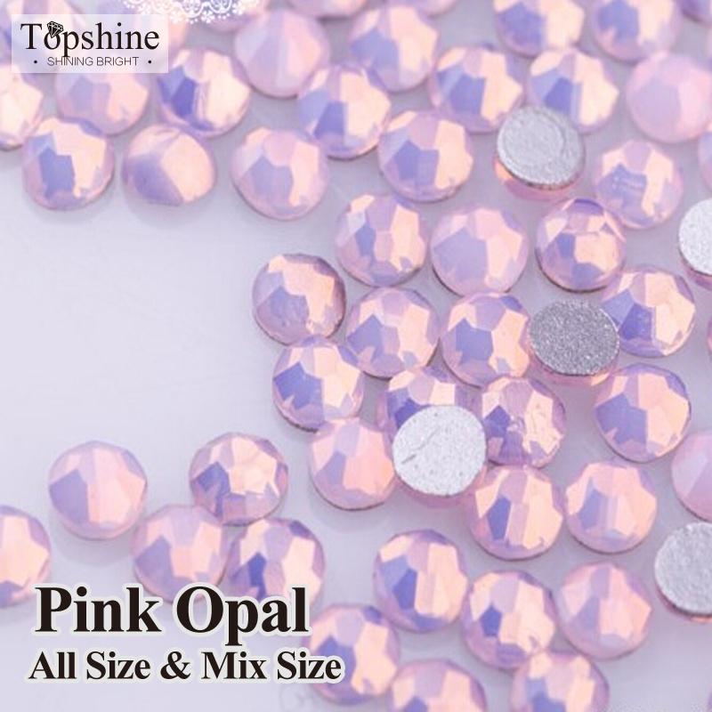 Opala rosa Todo o Tamanho Do Prego Strass para Decoração de Unhas Art Glitter Cristal Não HotFix Strass DIY decoração strass pedra(China (Mainland))