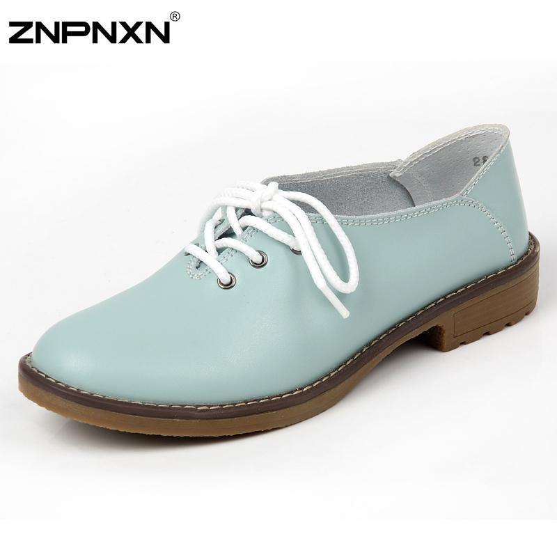 Из натуральной кожи оксфорд туфли для женщин-квартир новый 2016 мода женская  обувь мокасины sapatos femininos sapatilhas zapatos mujer 52cf46ff995