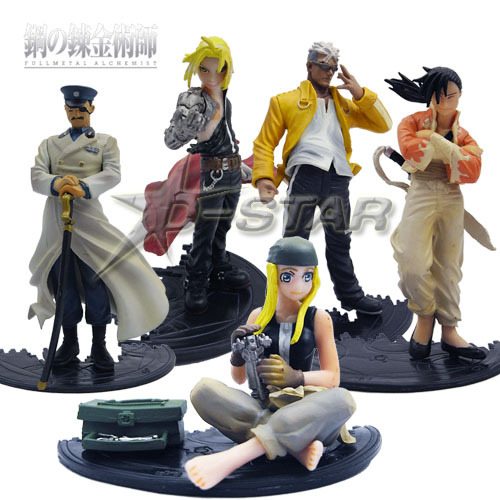 DHL Shipping 12 sets Fullmetal Alchemist 5pcs Solid Set PVC Action Figure Collection Model Toy Gift<br><br>Aliexpress