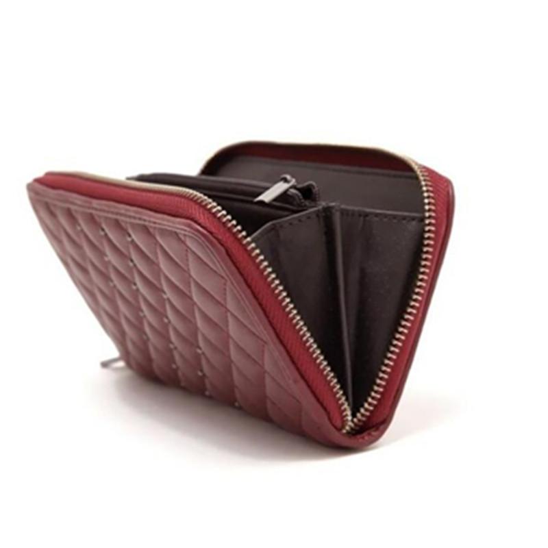 B.BAG! Brand Design Women Wallets Leather Purse Women Bag Long Leopard Lattice Diamond Brown Store Stock Cost Price Sale(China (Mainland))