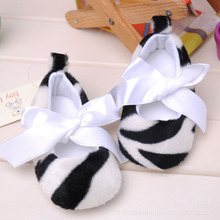 Free shipping classic baby Toddler shoes zebra Infant Booties shoes Girl's Prewalker soft sole shoes(China (Mainland))