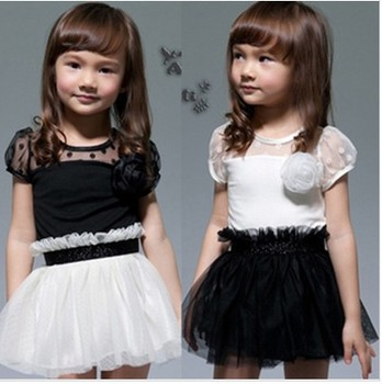 Free shipping Retail  2013 new summer girl beautiful princess dress flower Girls dress