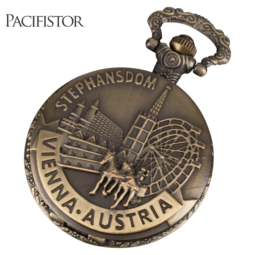 PACIFISTOR Pocket Watch Antique Vintage Quartz Pocket Wacthes Horse Steampunk Relogio De Bolso Gift For Mens Womens(Hong Kong)