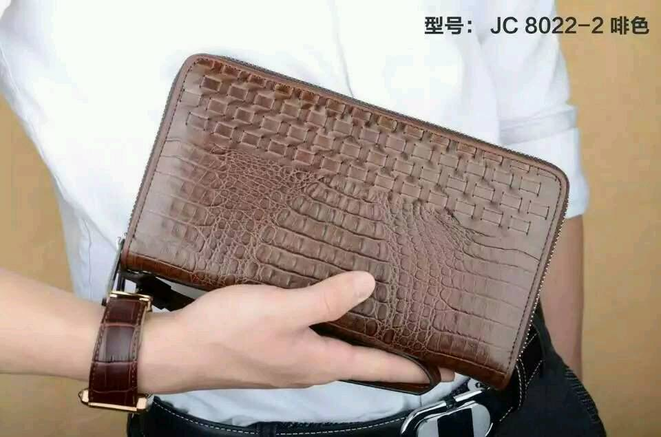 2015 New Arrival brand name man's Burr Design Long Wallet cayman cow leather Brown With Nice Gift Box 8022-2# Orign Quality(China (Mainland))