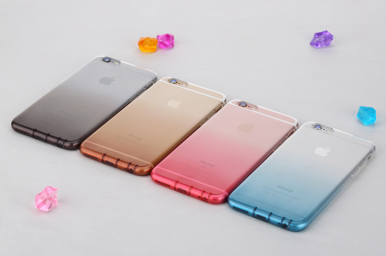 ROCK NEW Iris Series Colorful TPU Ultrathin Phone Case for iPhone 6 /6 plus Symbol transparent soft phone shell cover