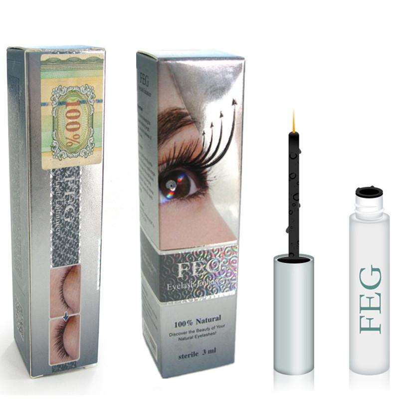 Eyelash Growth Treatments 100% Original FEG Chinese Herbal Powerful Makeup Liquid Serum Enhancer Eye Lash Longer Thicker 3ml(China (Mainland))