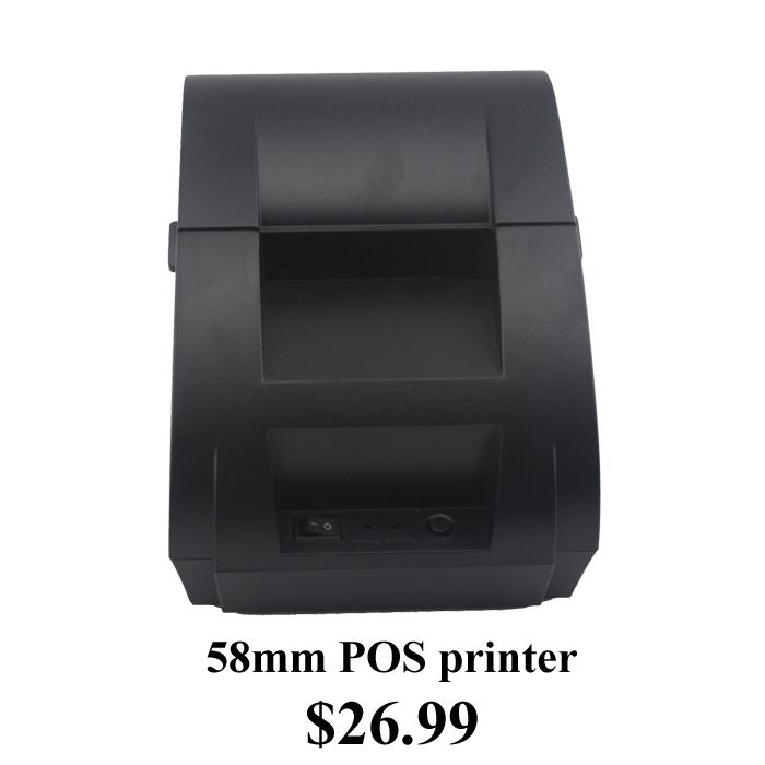 58mm Black Thermal Receipt Printer 58mm Thermal Printer 58mm USB POS Printer for POS System JP-5890k