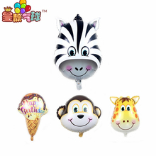 New Animal ice cream Foil Balloons Birthday Wedding Party Decorations Theme Helium Balloon Classic Kids Toys Gift for Children