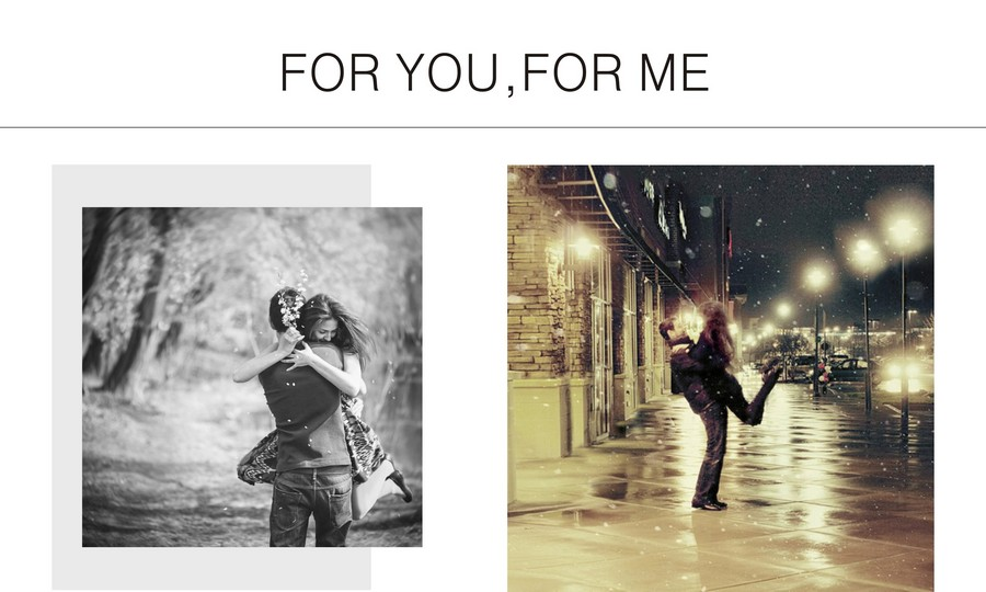 for you for me